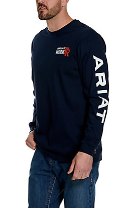 Ariat Work FR Men's Navy HRC2 Long Sleeve Flame Resistant Shirt