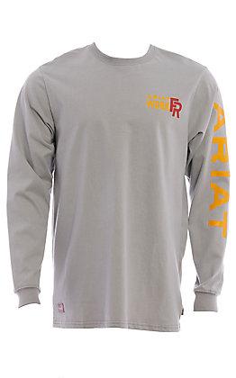 Ariat Men's Silver Fox Logo Long Sleeve CAT 2 FR Work Shirt