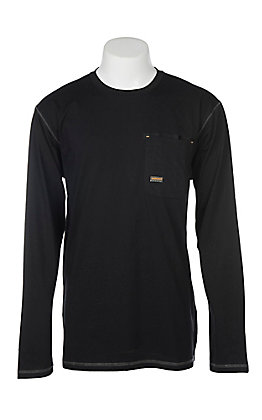 Ariat Men's Black Rebar Crew Long Sleeve Work Shirt
