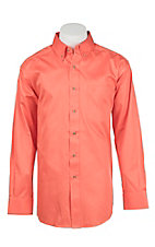 Ariat Men's Solid Orange Western Shirt