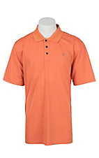 Ariat Men's Camelia Orange Heat Series Tek Polo Shirt