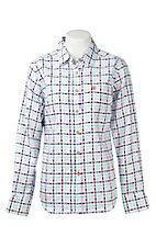Ariat Work FR Women's Pink, Purple, and White Plaid Flame Resistant Long Sleeve Work Shrit