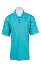 Ariat Men's Perfect Turquoise Heat Series Tek Polo Shirt