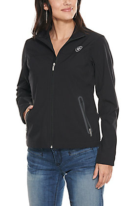 Ariat Women's Black with White Logo Team Softshell Jacket