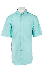 Ariat Men's Solid Aqua Short Sleeve Western Shirt - Big& Tall