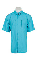 Ariat Men's Aqua Blue Vented Tek Button Up Shirt