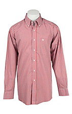 Ariat Men's Red, Blue, and White Check Long Sleeve Western Shirt