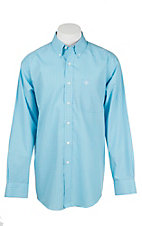 Ariat Men's Blue and White Check Long Sleeve Western Shirt