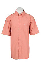 Ariat Pro Men's Orange Checkered Short Sleeve Western Shirt
