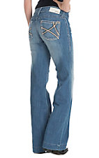 Ariat Women's Light Wash Open Pocket Denim Trouser Jean