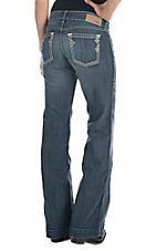 Ariat Women's Medium Wash with Silver Studs Open Pocket Trouser Jean