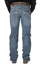 Ariat Men's Medium Wash Open Pocket Low Rise Boot Cut Jeans