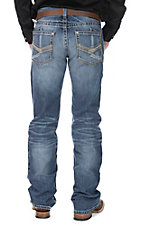 Ariat Men's M6 Medium Wash Open Pocket Slim Fit Boot Cut Jeans