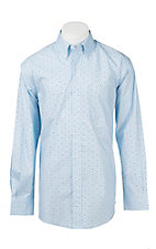 Ariat Men's Sky Blue  Print Western Shirt