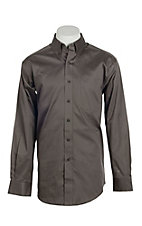 Ariat Men's Solid Grey Long Sleeve Western Shirt