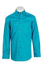 Ariat Men's Solid Turquoise Long Sleeve Western Shirt - Big & Tall