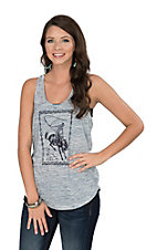 Ariat Women's Navy Cowboy Twisted Racerback Tank