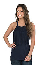 Ariat Women's Navy Fringe Tank