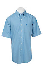 Ariat Men's Blue Plaid S/S Wrinkle Free Western Shirt