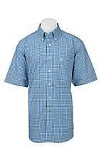 Ariat Pro Series Men's Blue and White Check S/S Western Shirt