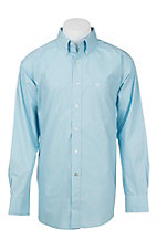 Ariat Men's Sky Blue and White Diamond Print S/S Western Shirt