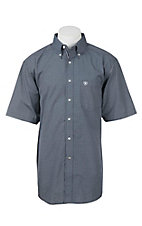 Ariat Pro Series Men's Black and White Check S/S Western Shirt