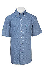 Ariat Men's Blue Diamond Print S/S Western Shirt