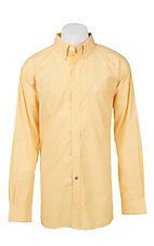 Ariat Pro Series Men's Yellow and White Plaid L/S Western Shirt