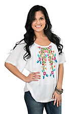 Ariat Women's Frida Embroidery Short Sleeve Fashion Top