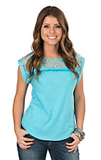 Ariat Women's Rita Lace Yoke Causal Top