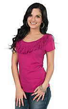 Ariat Women's Senorita Fringe Causal Top