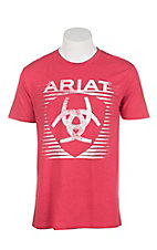 Ariat Men's Red with White Logo Short Sleeve T-Shirt