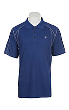 Ariat Men's Blue Heat Series Tek Polo Shirt