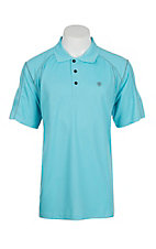 Ariat Men's Sea Breeze Blue Heat Series Tek Polo Shirt