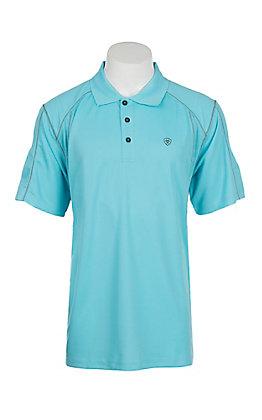 Ariat Men's Sea Breeze Blue Heat Series Tek Polo Shirt