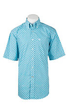Ariat Men's Turquoise Starburst Print Short Sleeve Western Shirt