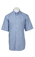 Ariat Men's Blue Medallion Print Short Sleeve Western Shirt