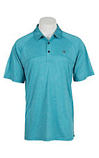 Arian Men's Turquoise Heather Heat Series Tek Polo Shirt