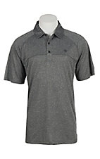 Ariat Men's Charcoal Grey Heat Series Tek Polo Shirt