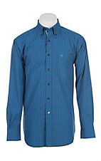 Ariat Men's Navy Plaid Long Sleeve Western Shirt