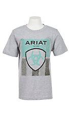 Ariat Boy's Grey Short Sleeve T-Shirt