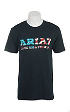 Ariat Men's Black with Patriotic Logo Short Sleeve T-Shirt