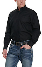 Ariat Men's Solid Black Wrinkle Free L/S Western Shirt