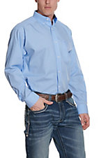 Ariat Men's Solid Light Blue Wrinkle Free L/S Western Shirt
