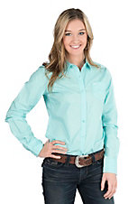 Ariat Women's Sea Foam Green Long Sleeve Western Shirt