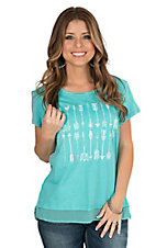 Ariat Women's Aqua Arrow Short Sleeve Knit Top