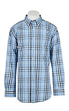 Ariat Men's Pro Series Oakridge Blue Plaid Fitted L/S Western Shirt