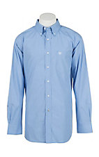 Ariat Men's Pro Series Oakville Blue and White Checkered L/S Western Shirt