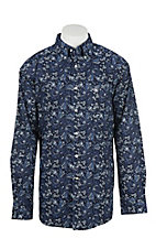 Ariat Men's Olex Dark Indigo Print L/S Western Shirt
