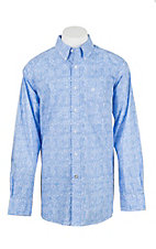 Ariat Men's Orodell Blue Print L/S Western Shirt
